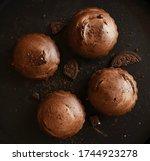 Chocolate Cupcake On A Black...