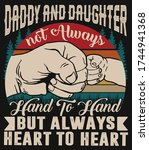 daddy and daughter not always... | Shutterstock .eps vector #1744941368