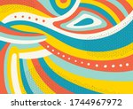 creative geometric colorful... | Shutterstock .eps vector #1744967972