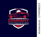 automobile glass film repair... | Shutterstock .eps vector #1744968215