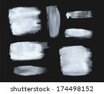 set of vector paint strokes | Shutterstock .eps vector #174498152