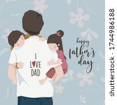 happy father's day. father's... | Shutterstock .eps vector #1744986188