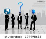business people silhouettes... | Shutterstock .eps vector #174498686