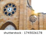 Cathedral Clock With Ray Of...