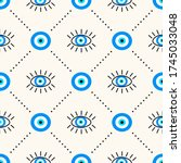vector seamless geometric... | Shutterstock .eps vector #1745033048