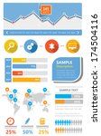 simple ui kit flat infographic...