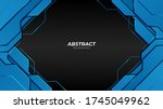 abstract futuristic blue and... | Shutterstock .eps vector #1745049962