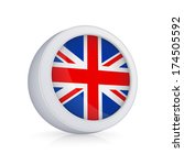 icon with flag of uk.isolated...