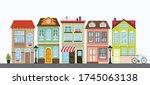 set of multicolored houses....   Shutterstock .eps vector #1745063138