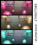 backgrounds set with abstract... | Shutterstock .eps vector #1745077385
