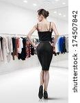 elegant woman shopping in a