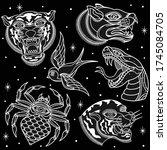 Black And White Animal Tattoos  ...