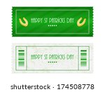special ticket for st. patrick... | Shutterstock . vector #174508778