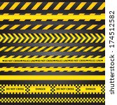 yellow with black police line... | Shutterstock .eps vector #174512582