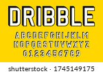 set of alphabet font letters...   Shutterstock .eps vector #1745149175