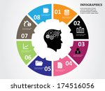 business infographics circle | Shutterstock .eps vector #174516056