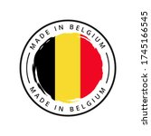 made in belgium vector round...   Shutterstock .eps vector #1745166545