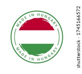 made in hungary vector round... | Shutterstock .eps vector #1745166572
