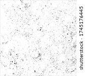 grunge black and white.... | Shutterstock .eps vector #1745176445
