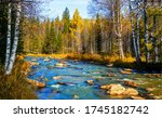 Autumn Forest River Landscape....