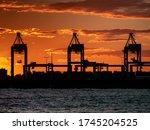 Silhouette Of Shipping...