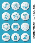 blue molecular biology science... | Shutterstock .eps vector #174523586