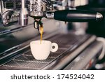 professional coffee machine... | Shutterstock . vector #174524042