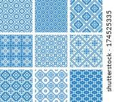 vector set collections of nine... | Shutterstock .eps vector #174525335