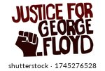 justice for george floyd... | Shutterstock .eps vector #1745276528