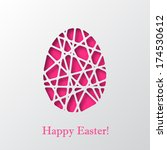 Happy Easter Decorated Paper...
