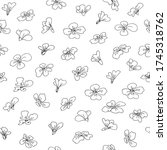 seamless pattern with flower... | Shutterstock .eps vector #1745318762