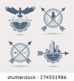 set of four retro badges. eps10. | Shutterstock .eps vector #174531986