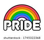 gay pride symbol. pride month... | Shutterstock .eps vector #1745322368