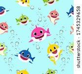 Baby Shark Seamless Pattern In...