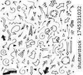 hand sketched arrows set for... | Shutterstock .eps vector #1745331032