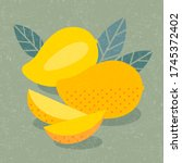 mango fruits illustration. ...   Shutterstock .eps vector #1745372402