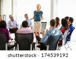 businesswoman addressing multi... | Shutterstock . vector #174539192