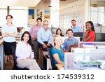 portrait of businesspeople in...   Shutterstock . vector #174539312