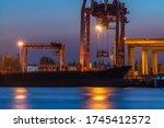 Industrial Port Crane Lift Up...