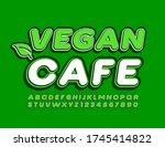 vector logo vegan cafe with...   Shutterstock .eps vector #1745414822