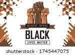 black lives matter banner for... | Shutterstock .eps vector #1745447075