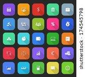 trendy simple finance icons set ...