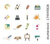 art icons vector | Shutterstock .eps vector #174545828
