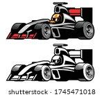 vector of racing formula car | Shutterstock .eps vector #1745471018