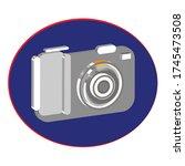 camera 3d clip art.in the... | Shutterstock .eps vector #1745473508
