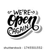 we're open again quote....   Shutterstock .eps vector #1745501552