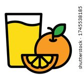 orange juice icon  beverage... | Shutterstock .eps vector #1745538185