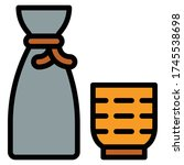 japanese rice wine icon ... | Shutterstock .eps vector #1745538698