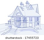 House blueprint free vector art 2862 free downloads 3d blueprint house vector technical draw malvernweather Choice Image
