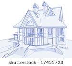 House blueprint free vector art 2728 free downloads 3d blueprint house vector technical draw malvernweather Choice Image